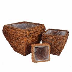 Sea Grass Basket, Brown, Set Of 3