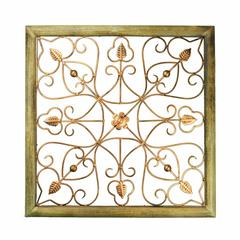 Wood And Iron Wall decor, Brown And Copper