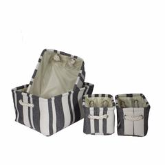 4-Piece Canvas Utility Basket Set
