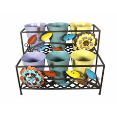 Two Tier Pot Metal Rack