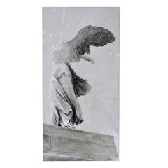 Winged Victory Canvas Wall Print, Gray