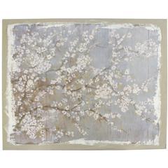 White Cherry Blossom Canvas Print , Multicolor