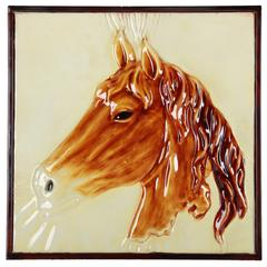Metal Horse Wall Art ,Brown