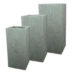 Textured Fiber Clay Pots (Set of 3)