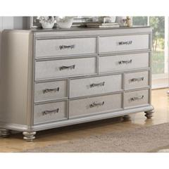 10 drawers Wooden Dresser In Silver