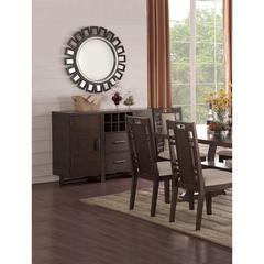 Rubber Wood, Plywood & Birch Veneer Server, Ebony
