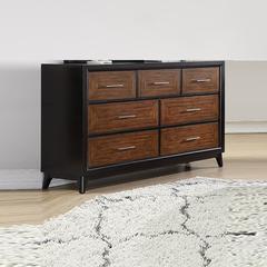 Wooden 7- Drawer Spacious Dresser, Brown
