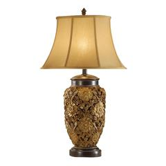 33' Poly Table Lamp With Embellished Base Set Of 2 Gold
