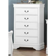 Wooden Chest With 5 Drawers White