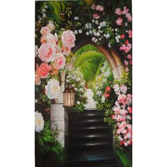 Wooden Wall Art With Nature Picture , Multicolor