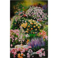 Wooden Wall Art With Beautiful flowers, Multicolor