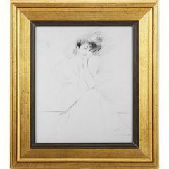 Natural Wooden Framed Portrait Of Consuelo Vanderbilt Wall Art, Multicolor