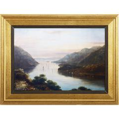 View From West Wall Art With Wooden Frame, Multicolor