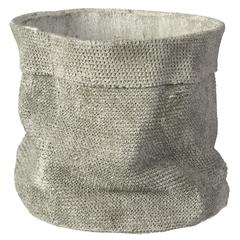 Jute like Cemented Planter, Gray