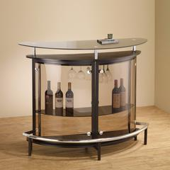 Enticing Contemporary Bar Unit with Smoked Acrylic Front, Brown