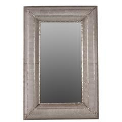 Valuable & Elegant Rectangular Shaped Metal Wall Mirror In Silver