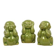 Benzara Exquisite And Elegant Set Of Three Figurine Monkeys