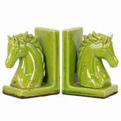Alluring Go Green Horse Bookend