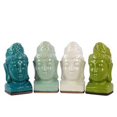 Exquisite And Classy Set Of Four Buddha Stoneware