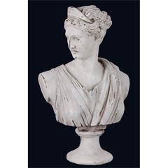 Antique Themed Elegant Cement Woman Statue