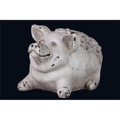 Country Style White Cement Pig