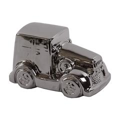 Benzara Traditional Style Rolls Royce Ceramic Car In Polished Silver Finish