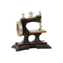 Benzara Traditional Resin Sewing Machine W/ Detailed Features & Weathered Accents