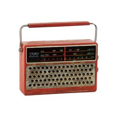 Classic 1980S Resin Radio In Red Color