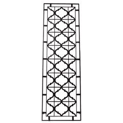 Elegantly Crafted Crisscross Pattern Metal Plaque