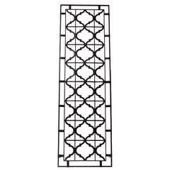Benzara Elegantly Crafted Crisscross Pattern Metal Plaque