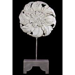 Beautifully Sculpted Flower & Petals Wooden & Resin Art Decor