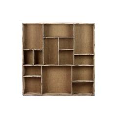 Benzara Modern And Smart Looking Wooden Wall Shelf