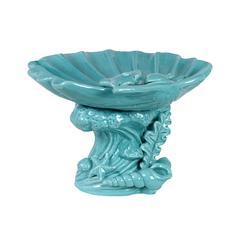 Beautiful & Mesmerizing Ceramic Seashell Platter In Blue