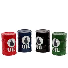 Creative Ceramic Oil Barrel Money Bank Set Of Four