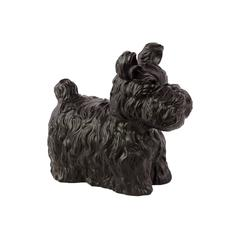 Charming & Cute Ceramic Dog Matte In Black