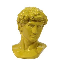Majestic & Classic Ceramic Man Bust In Yellow