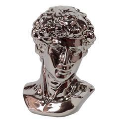 Benzara Majestic & Stylish Ceramic Man Bust In Silver