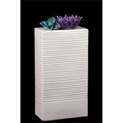 Benzara Modern & Elegant Ceramic Vase In White