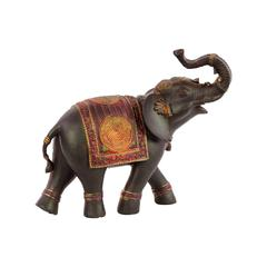Classy Resin Elephant Small With Red Blanket