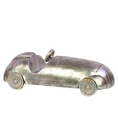 Benzara Fancy & Exclusive Resin Classic Sports Car In Silver