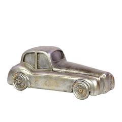 Unique & Exclusive Resin Classic Hot Rod In Silver