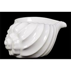 Benzara Beautiful, Glossy & Shiny Ceramic Shell Showpiece In White Large