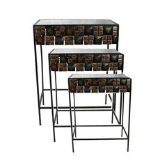 Benzara Strong And Sturdy 3Pc Metal Table Set