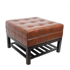 Benzara Elegant Vintage Appeal Square Wood Bench