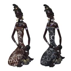 Benzara Set Of 2 Assorted Alluring Woman Figurine