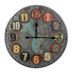 Benzara Unique And Stylish Vintage Themed Metal Wall Clock