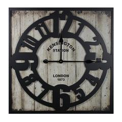 Rustic Appeal Stunning Wooden Metal Wall Clock