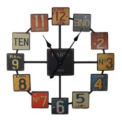 Vintage Themed Uniquely Designed Metal Wall Clock