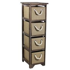 Chic, Stylish Bin Storage 4 Drawer