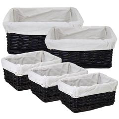 Modish And Useful 5Pc Willow Utility Basket